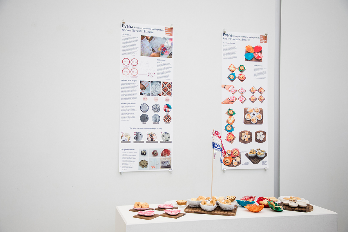 A poster and product display presentation of Andrea Gonzalez Esteche's thesis project.