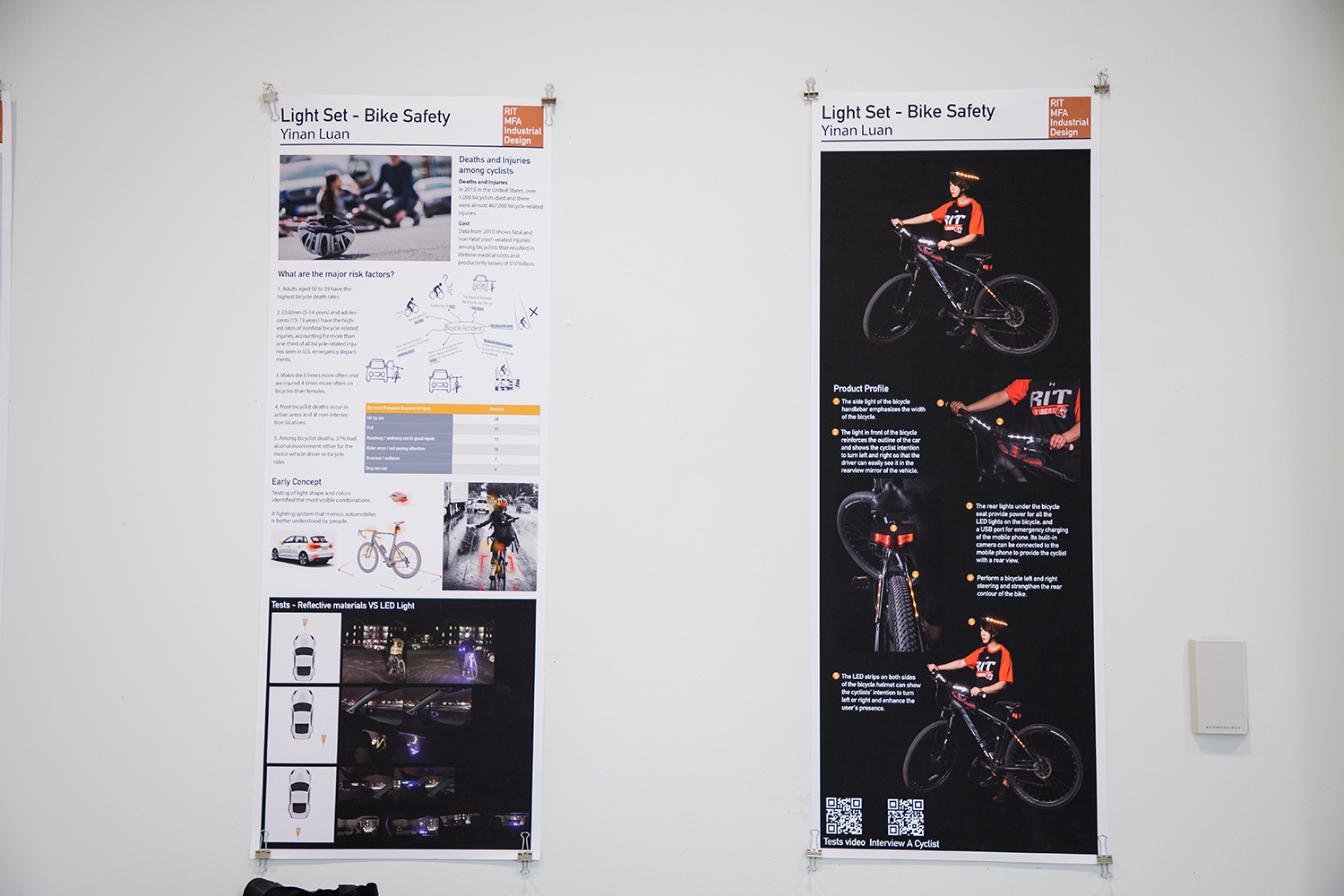poster of the bike safety design