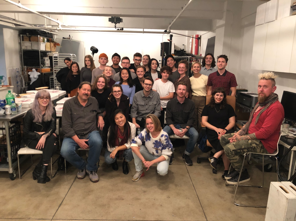 A group shot of advertising photography students and faculty in NYC.