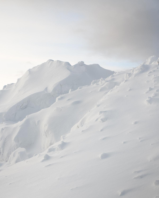 A large snow pile.