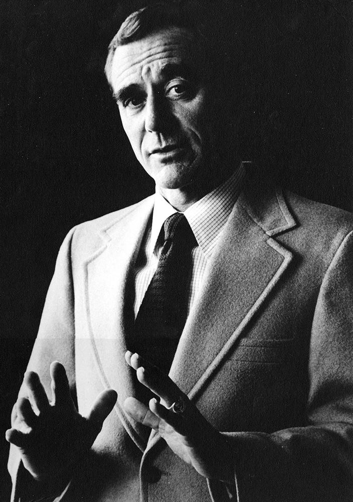 undated black-and-white photo of M. Richard Rose.