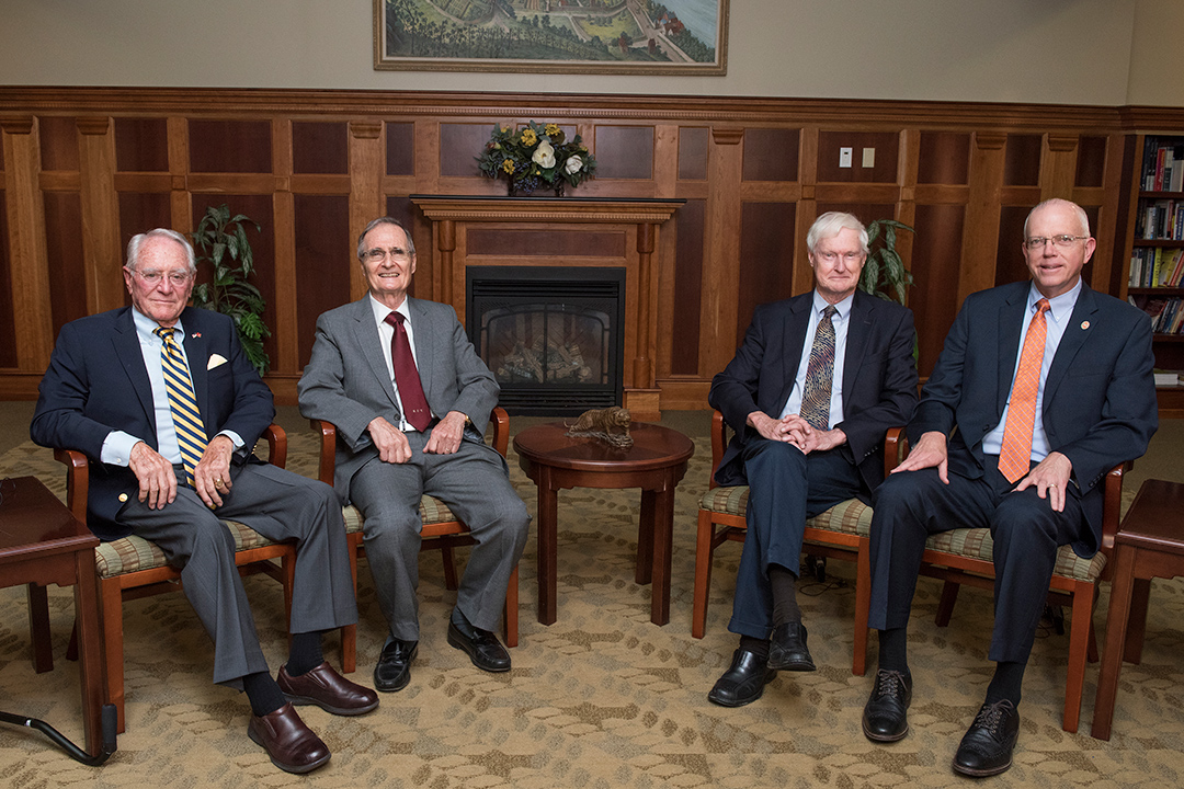 four RIT presidents sitting next to each other.
