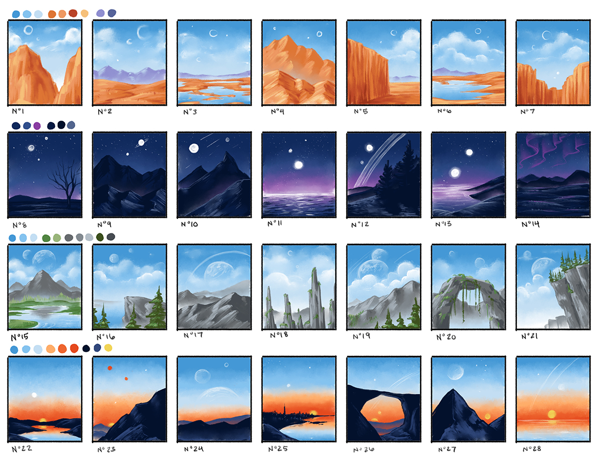 A sequence of thumbnails of illustrations.