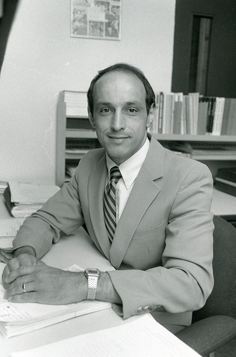 Black and white photo of Lou Spiotti in 1980.