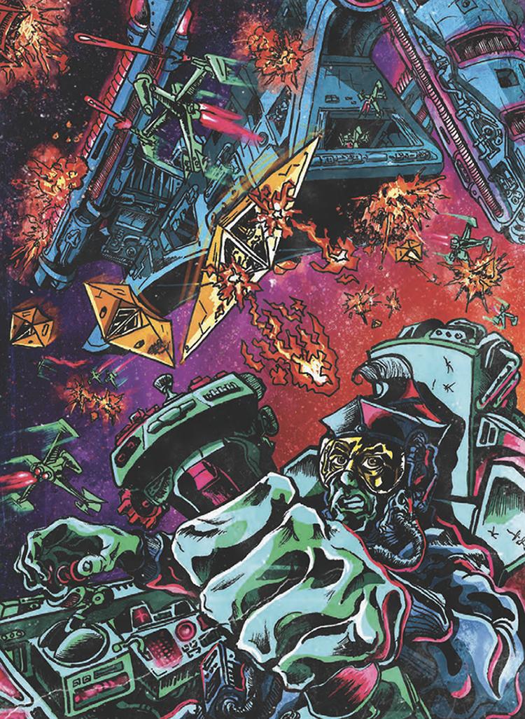 An illustration of a Star Wars-like battle.