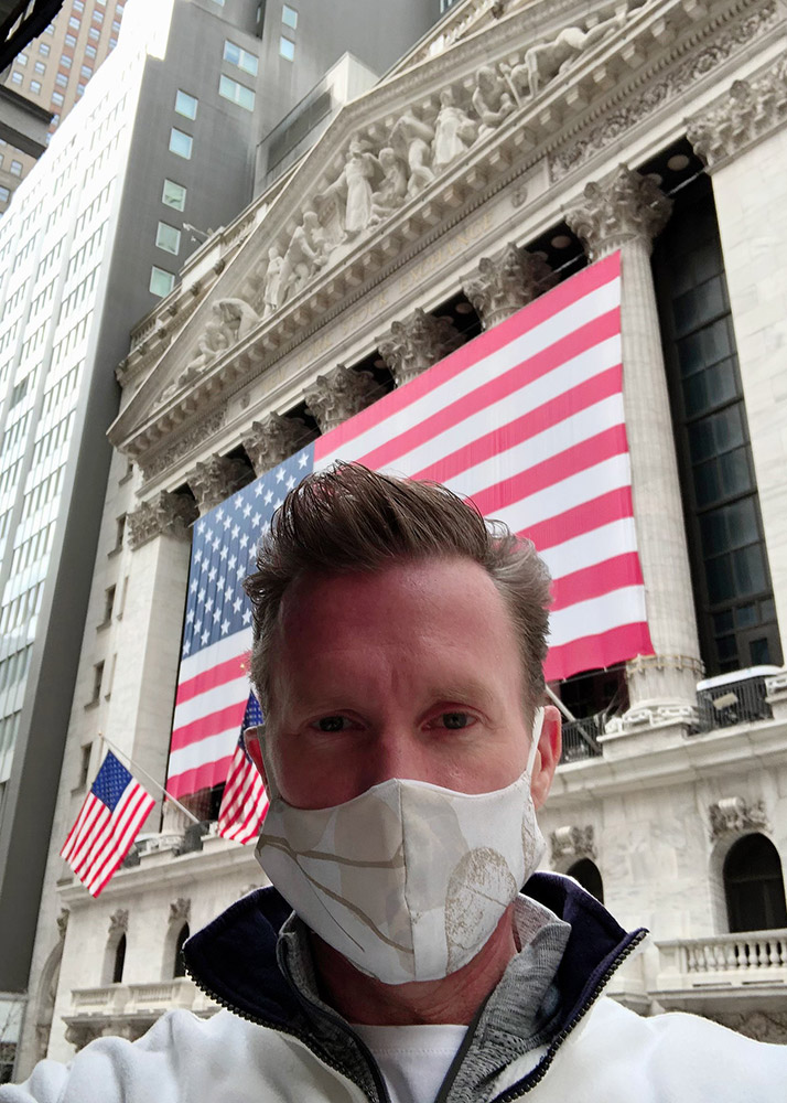 man wearing facemask.