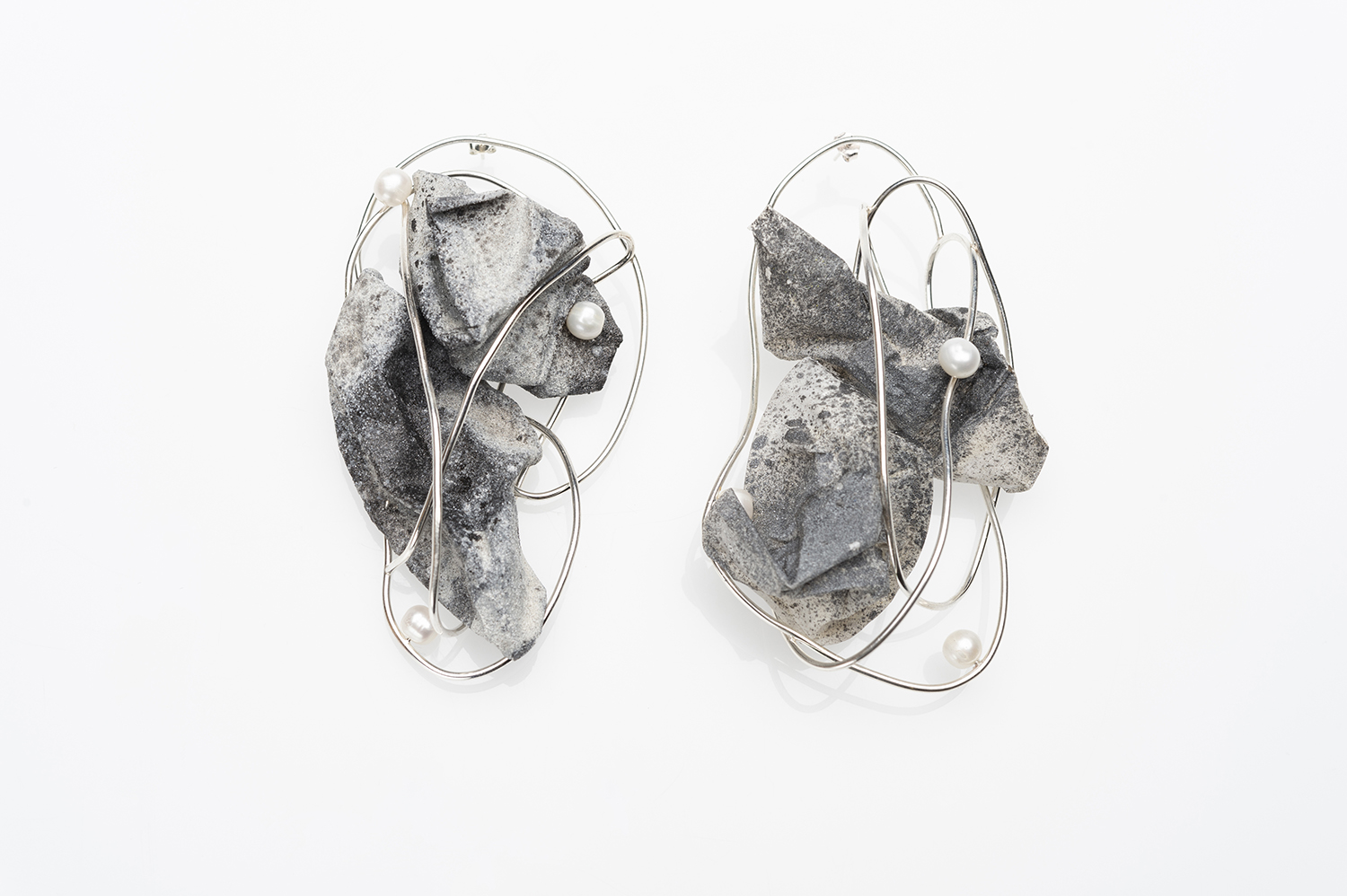 Earrings designed by Yue Jiang