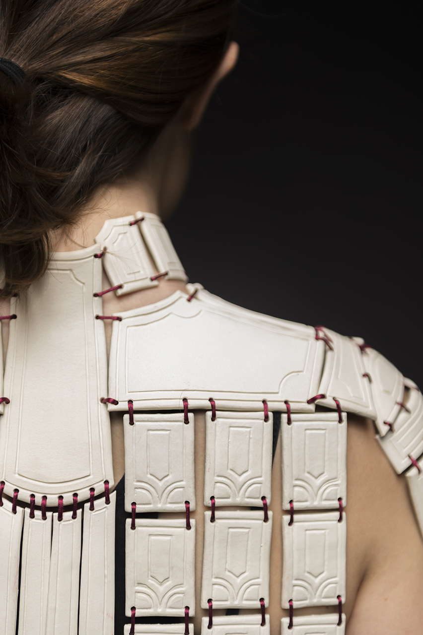 A detailed look at armor made out of ceramic material