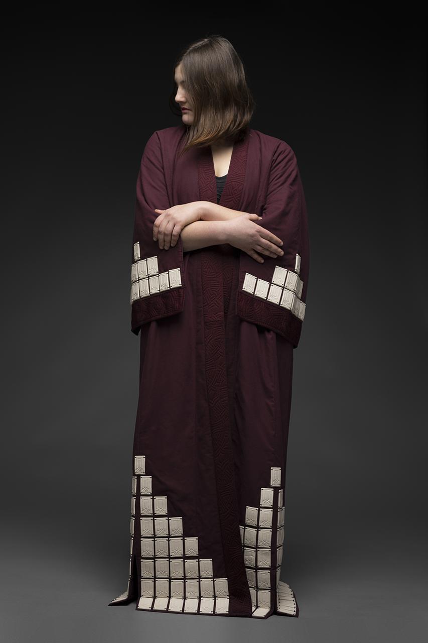 A robe designed by Zara Davis