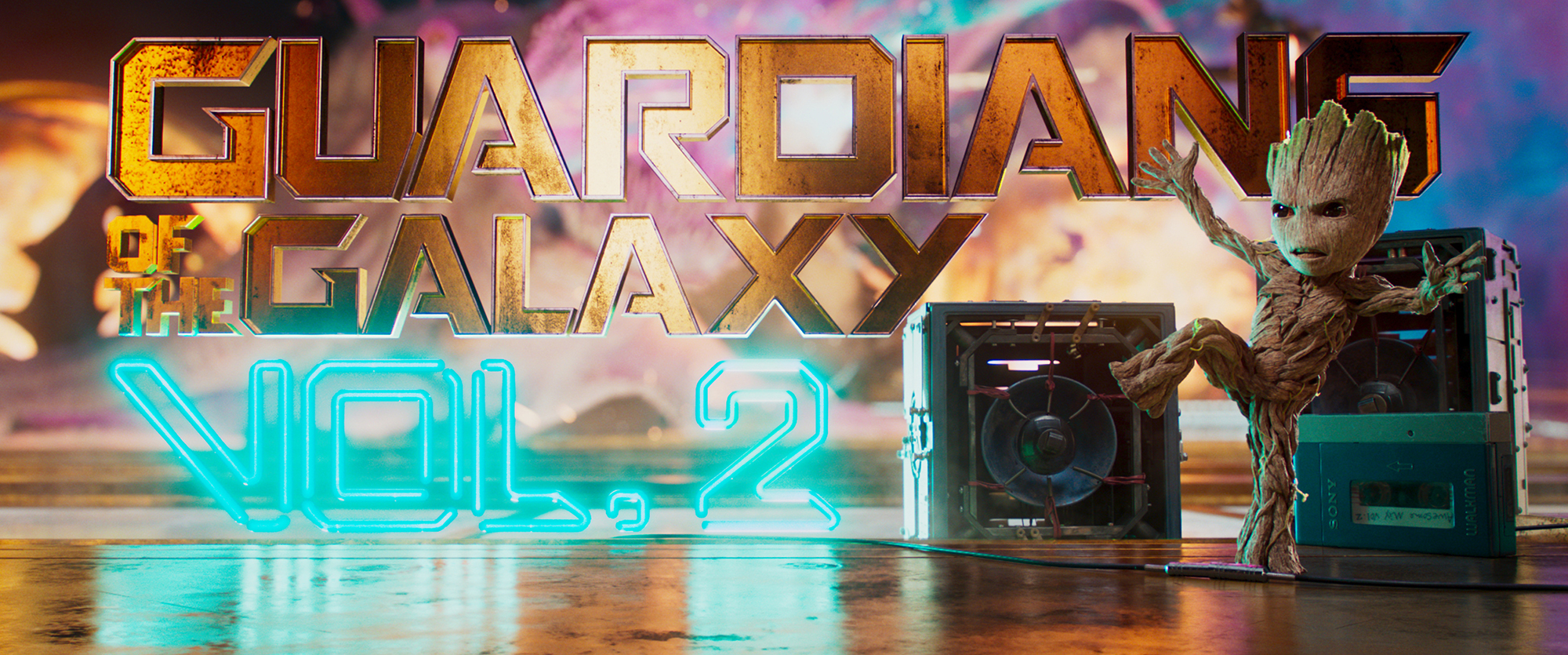 A Guardians of the Galaxy title graphic.