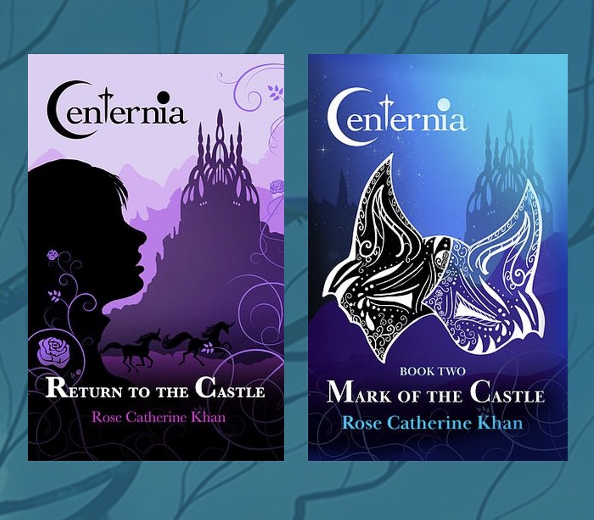 """Two book covers for """"Centernia."""""""