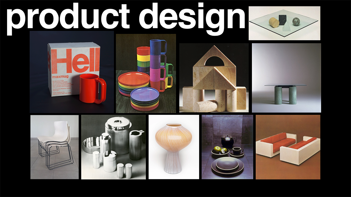 A Powerpoint slide highlighting the Vignellis' product designs.