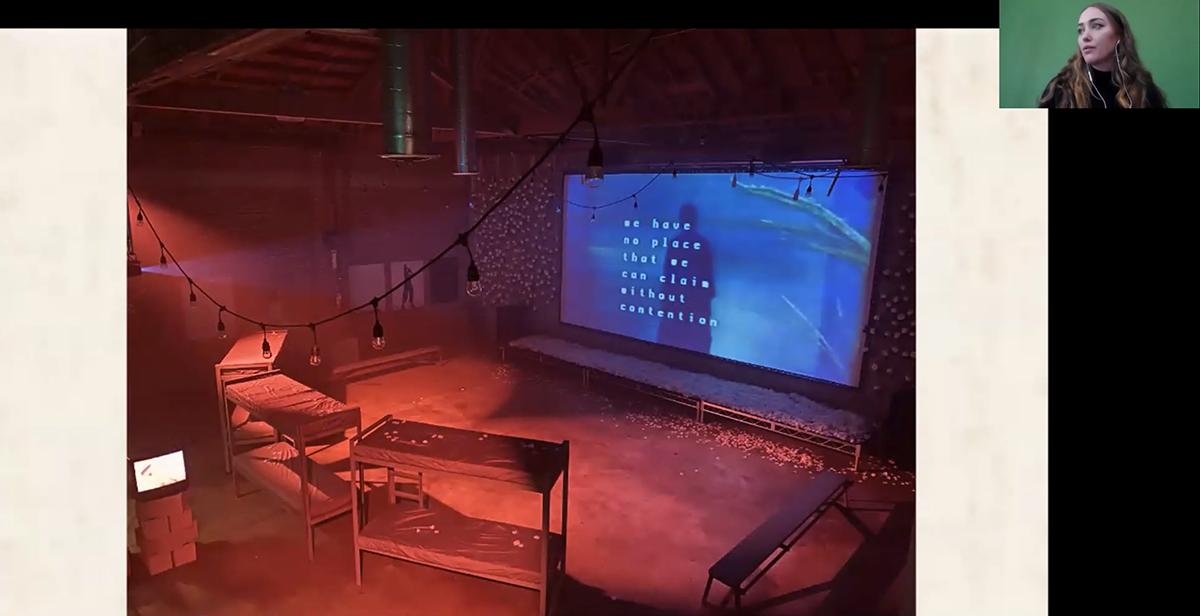Sam Cannon presents a video installation.