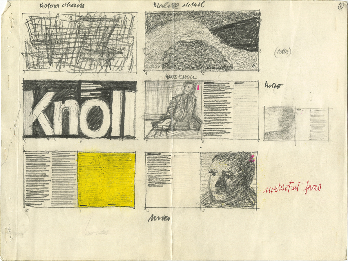 Sketches by Massimo Vignelli.