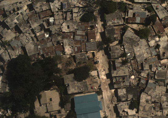 'Satellite picture of buildings'
