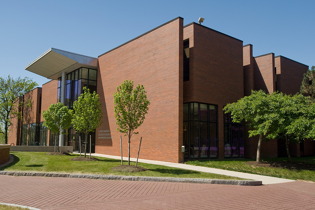 Outside view of Max Lowenthal Hall, the main building used for business classes.