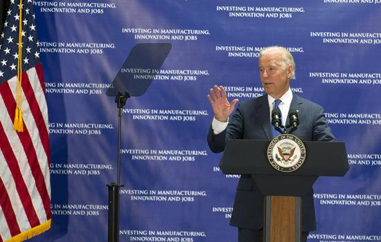 'Vice president giving speech at podium'