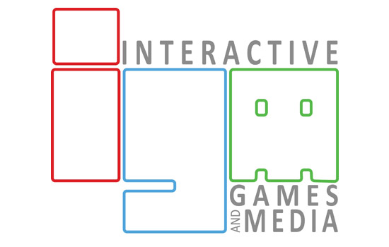 """Logo for """"Interactive Games and Media"""""""