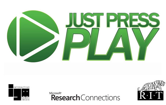 """Logo for """"Just Press play"""""""