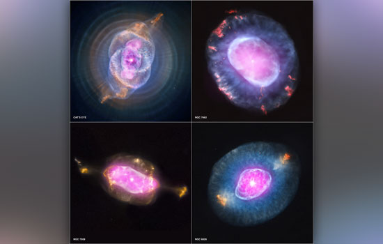 4 Pictures of nebula