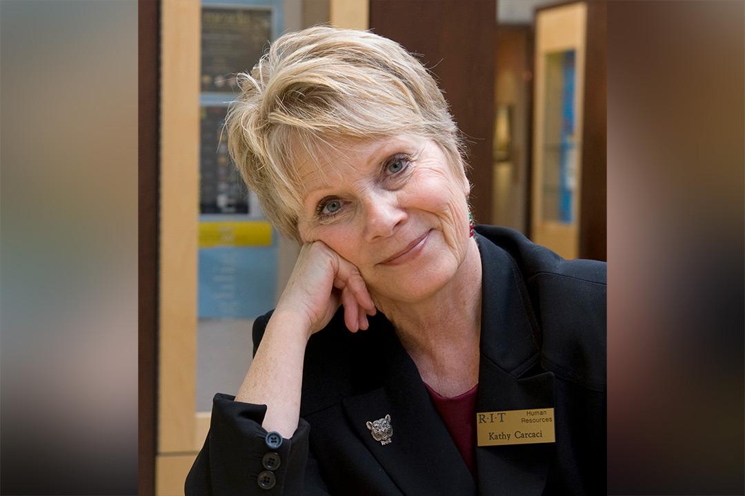 A portrait of Kathy Carcaci.