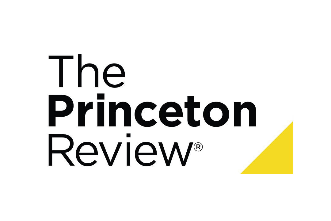 The logo for The Princeton Review. Simple text reading The Princeton Review with a small yellow triangle in the bottom right corner.