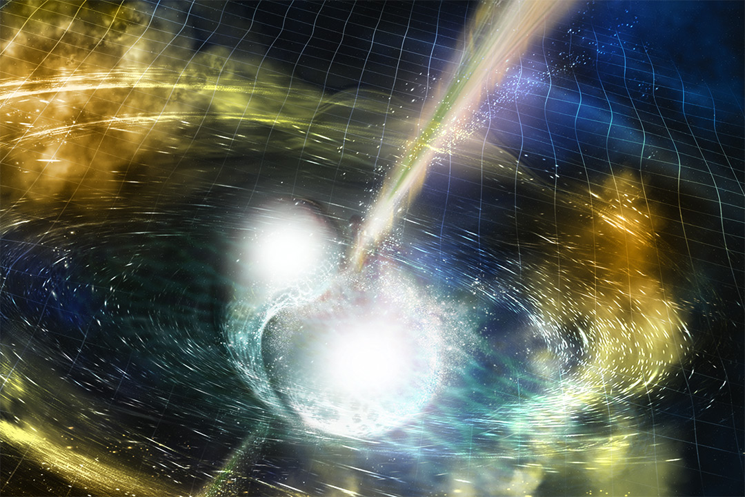 Computer simulation of neutron stars merging with other neutron stars or black holes.