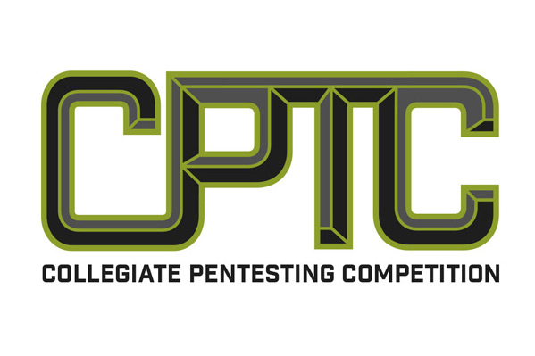 The logo for the Collegiate Pentesting Competition. Large black and green letters that read CPTC.