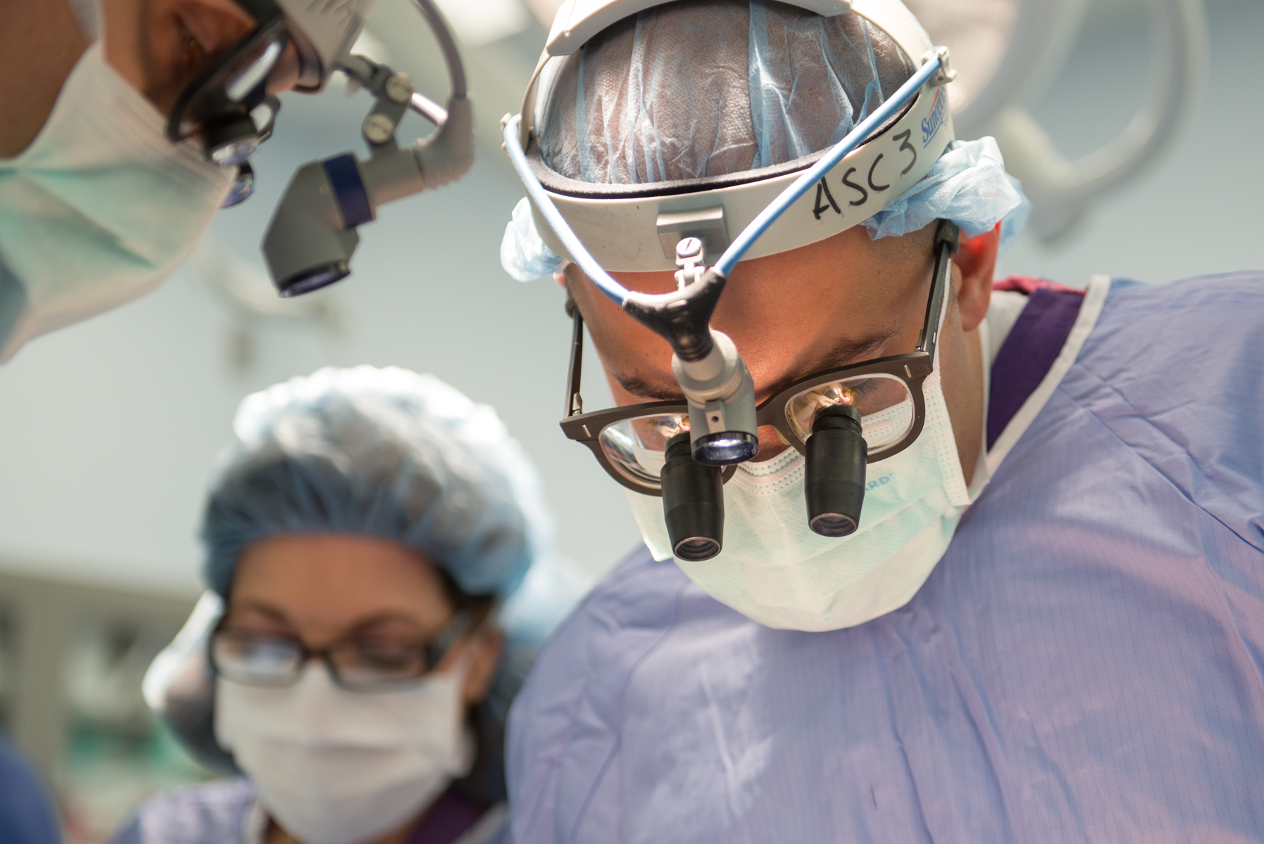 Medical personnel perform a surgery