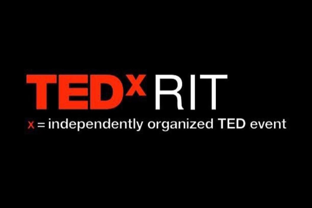 Graphic reads: TEDxRIT. x = independently organized TED event