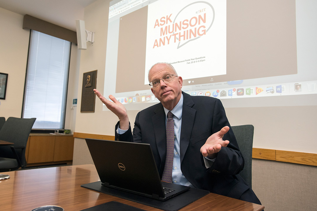 President David Munson takes questions on Reddit
