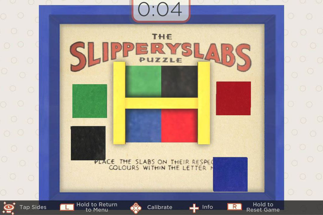 "Screenshot of ""SlipperySlabs"" mobile game."