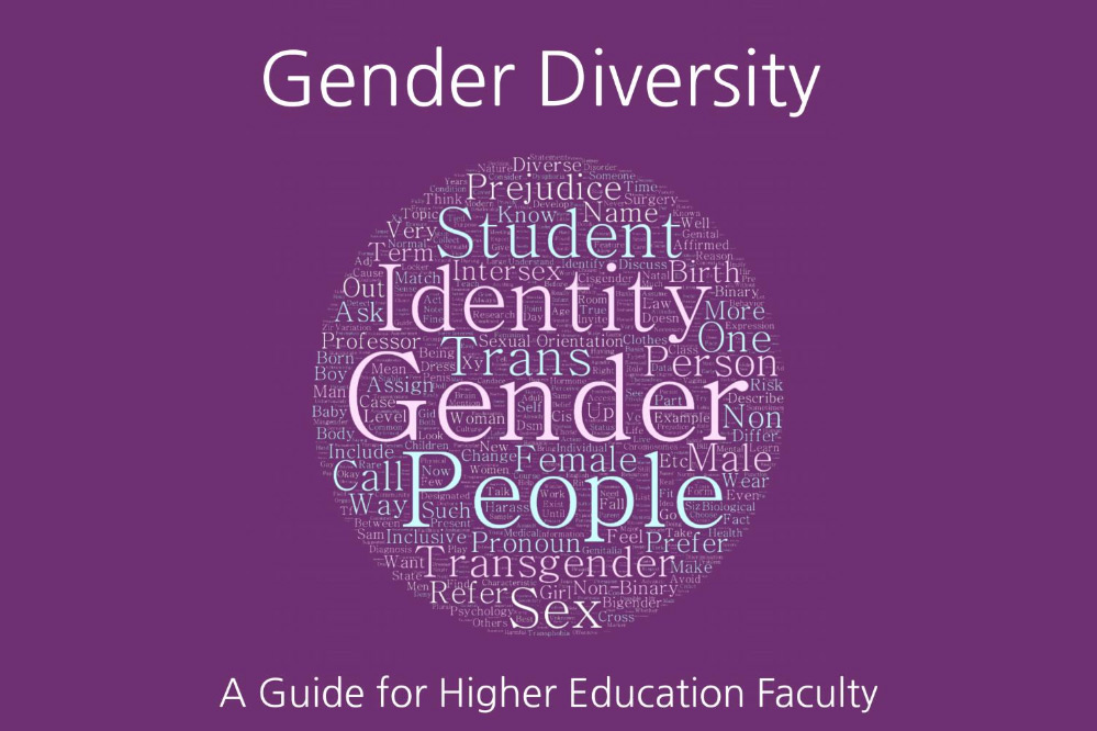 Book cover titled: Gender Diversity: A Guide of Higher Education Faculty