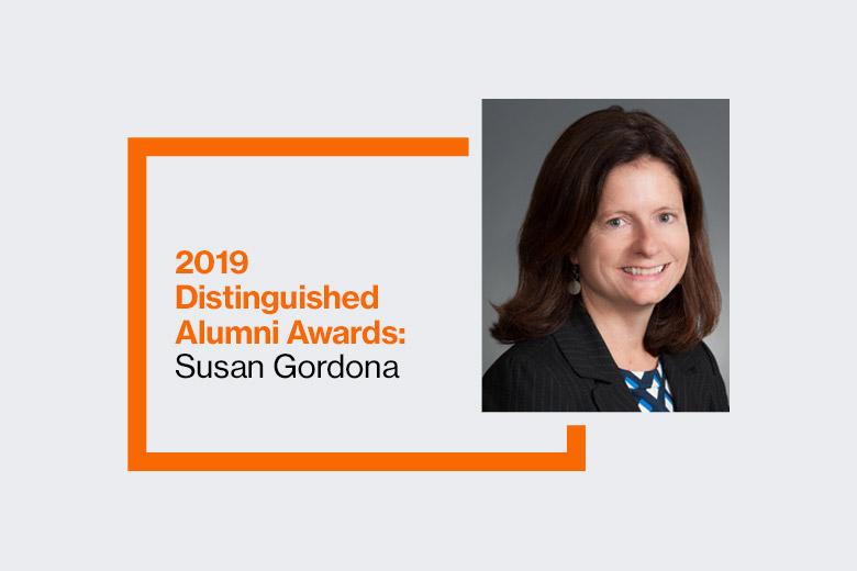 Graphic reads: 2019 Distinguished Alumni Awards: Susan Gordona