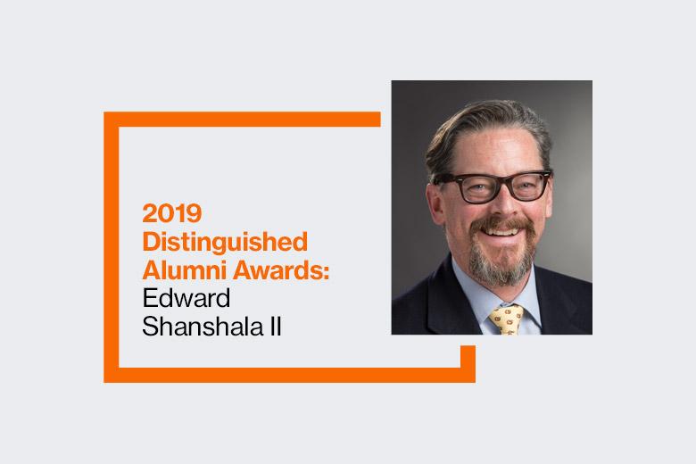 'Graphic reads: 2019 Distinguished Alumni Awards: Edward Shanshala II'