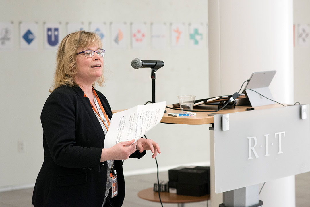 'Jennifer Schneider, the Eugene H. Fram Chair in Applied Critical Thinking at RIT'