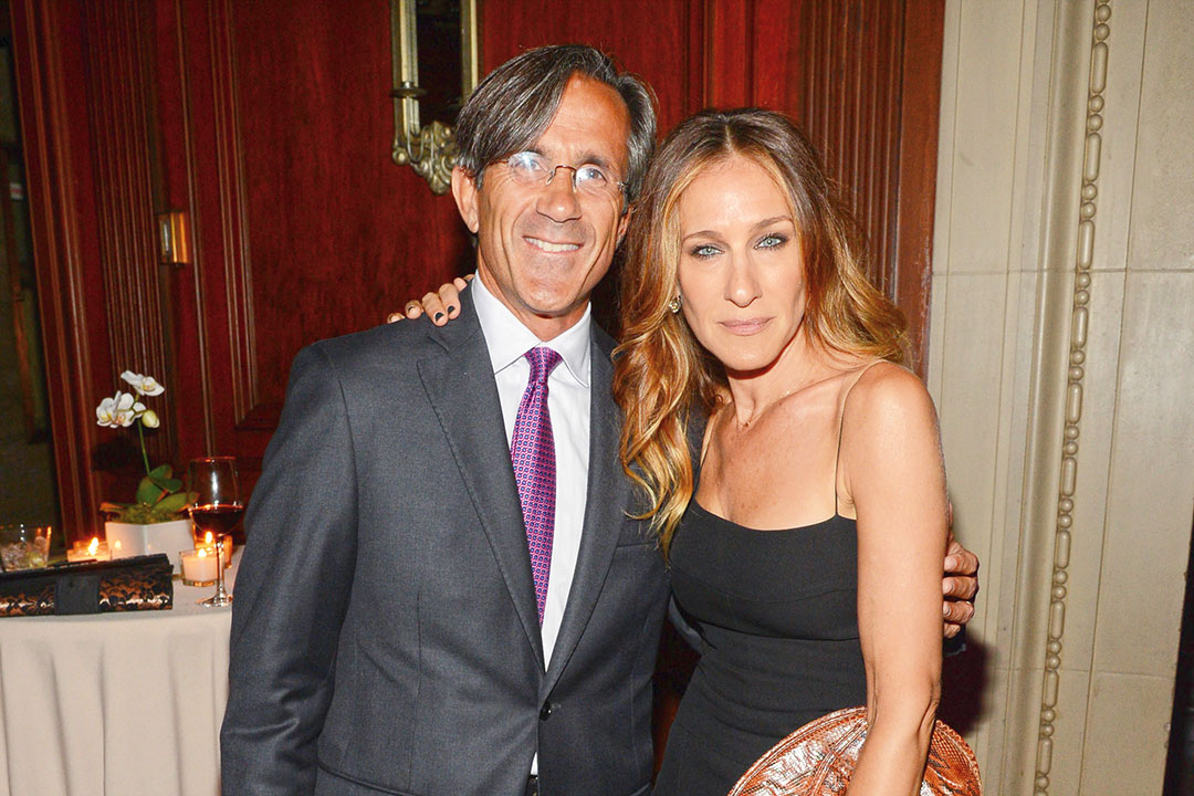 Frank Selvaggi stands with Sarah Jessica Parker.