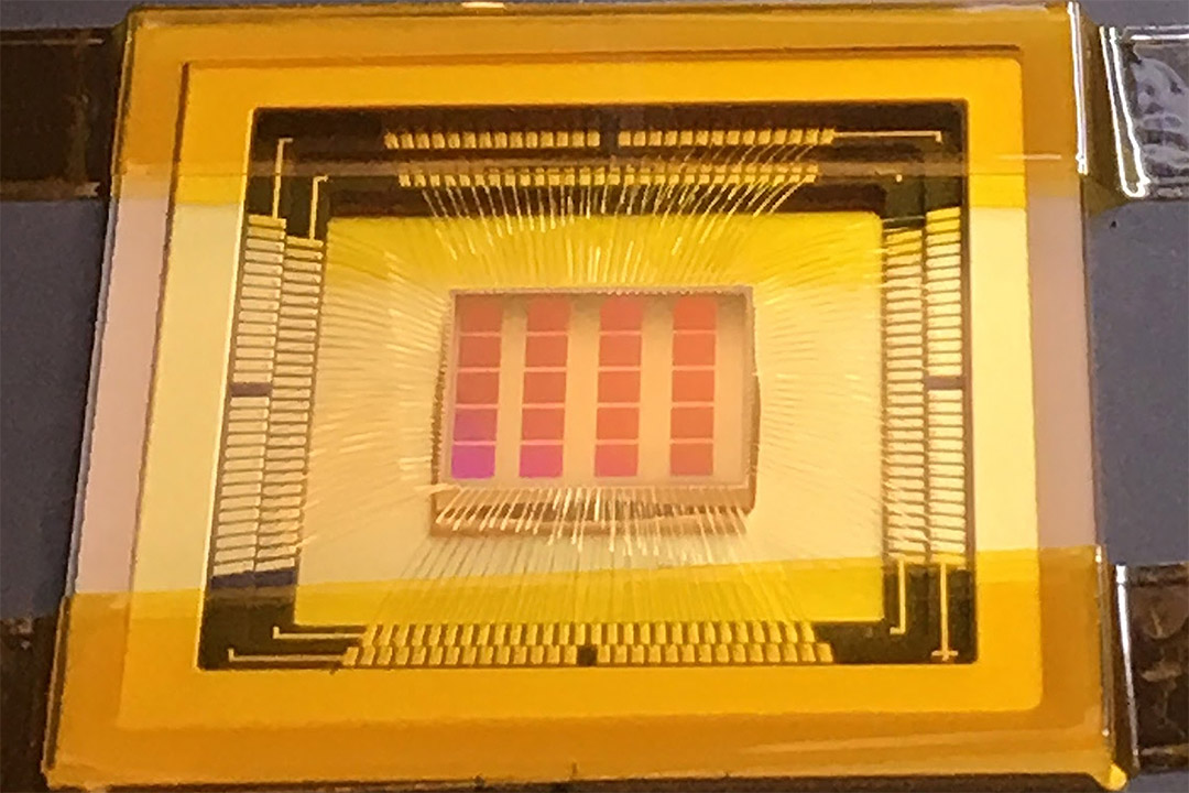 'Quanta Image Sensor (QIS) semiconductor chip.'
