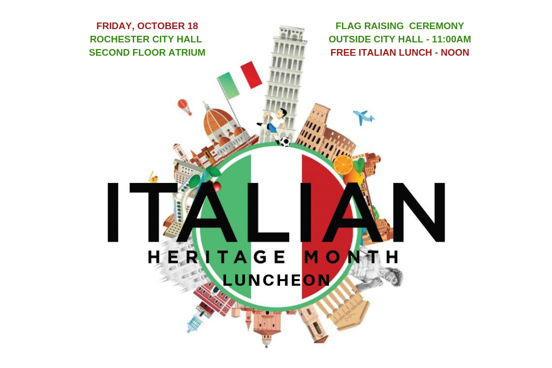 Graphic of Italian Heritage Month