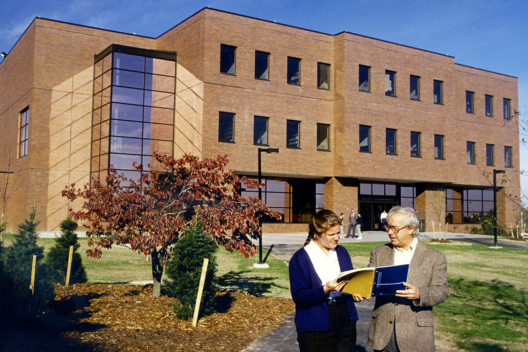 The newly completed Chester F. Carlson Center for Imaging Science in 1990.