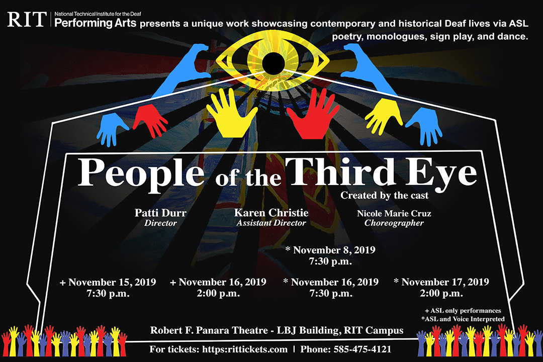 Poster for performance of People of the Third Eye.