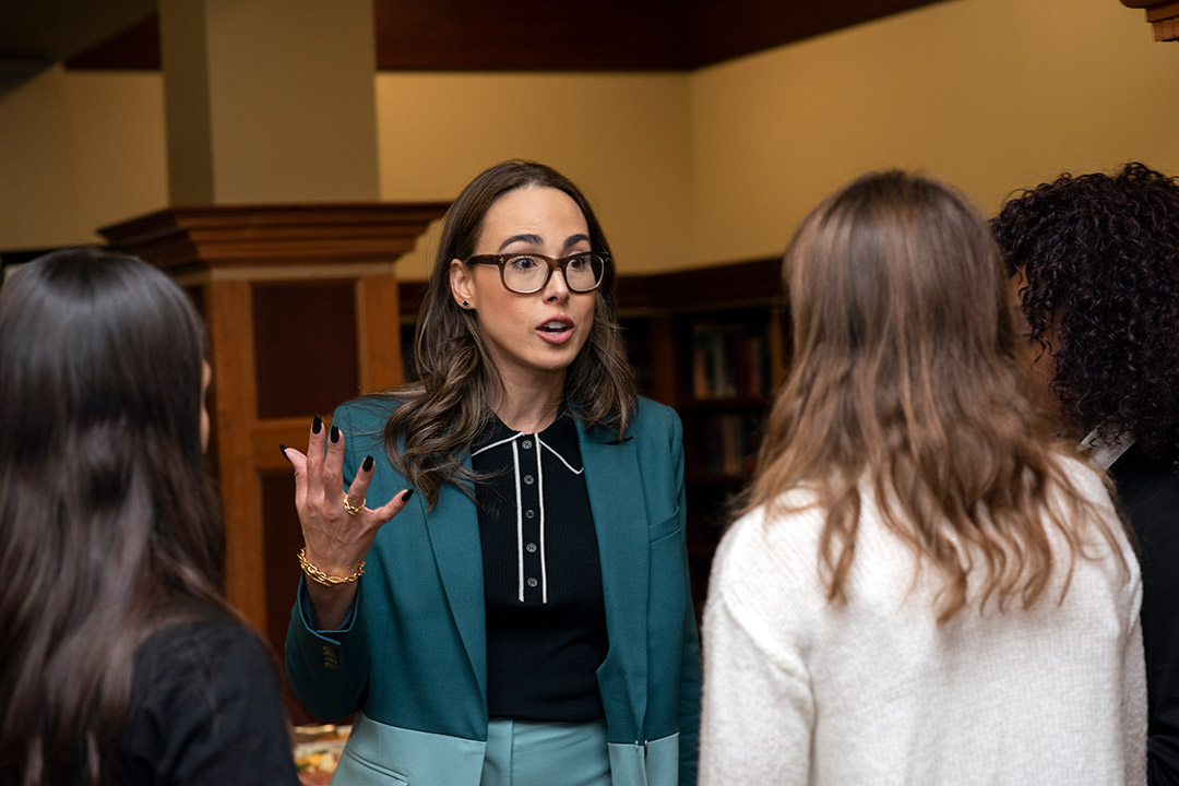 'Uber strategist meets with students.'
