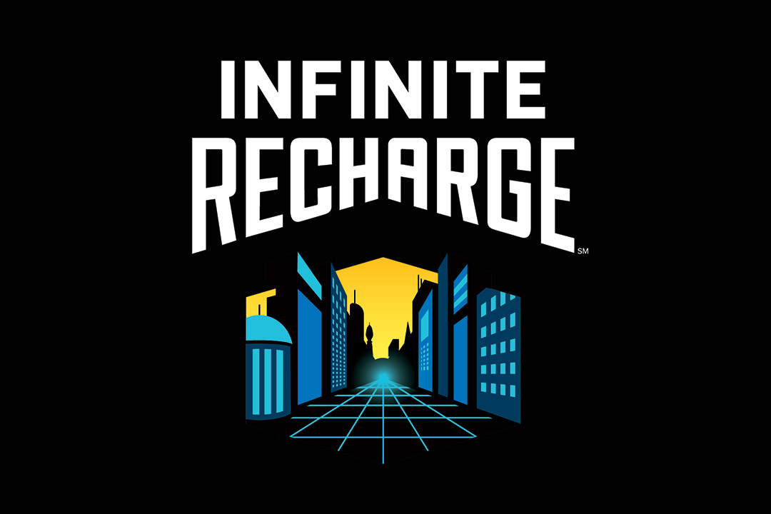 FIRST Robotics Infinite Recharge logo.