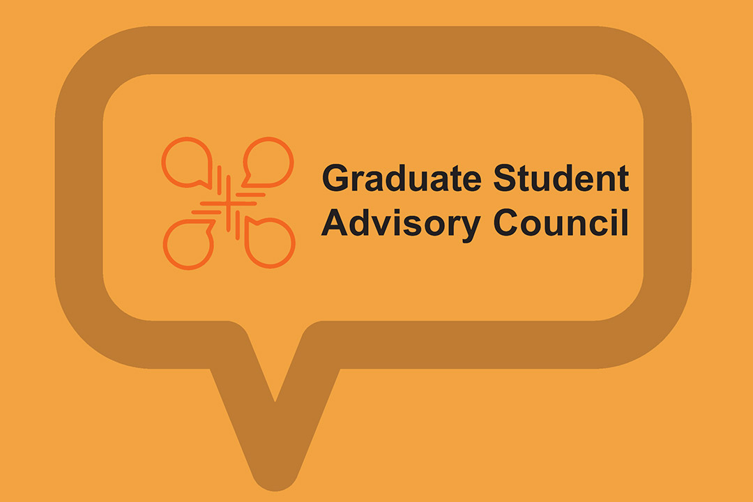graphic that reads: grduate student advisory council.