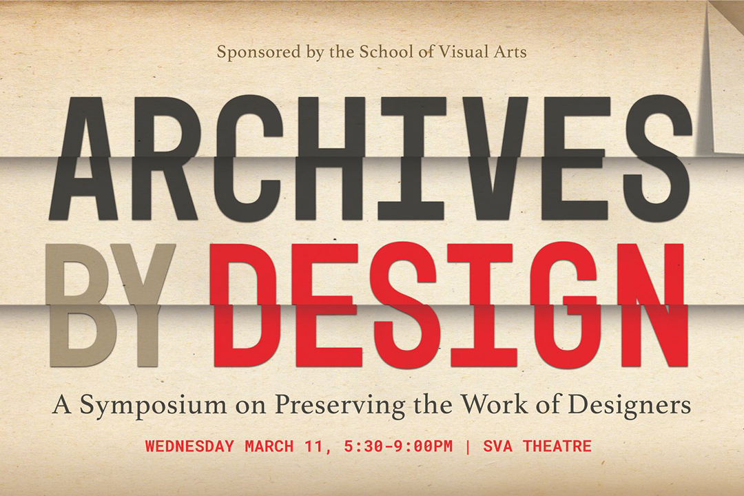 A graphic with details about the Archives by Design conference.