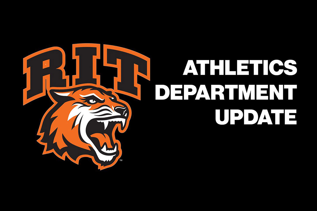 graphic with the words: Athletics department update