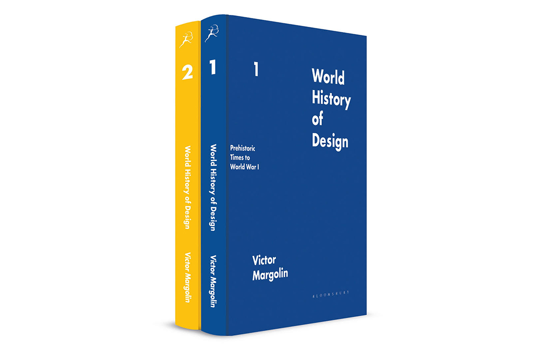 The World History of Design volumes 1 and 2, side by side.