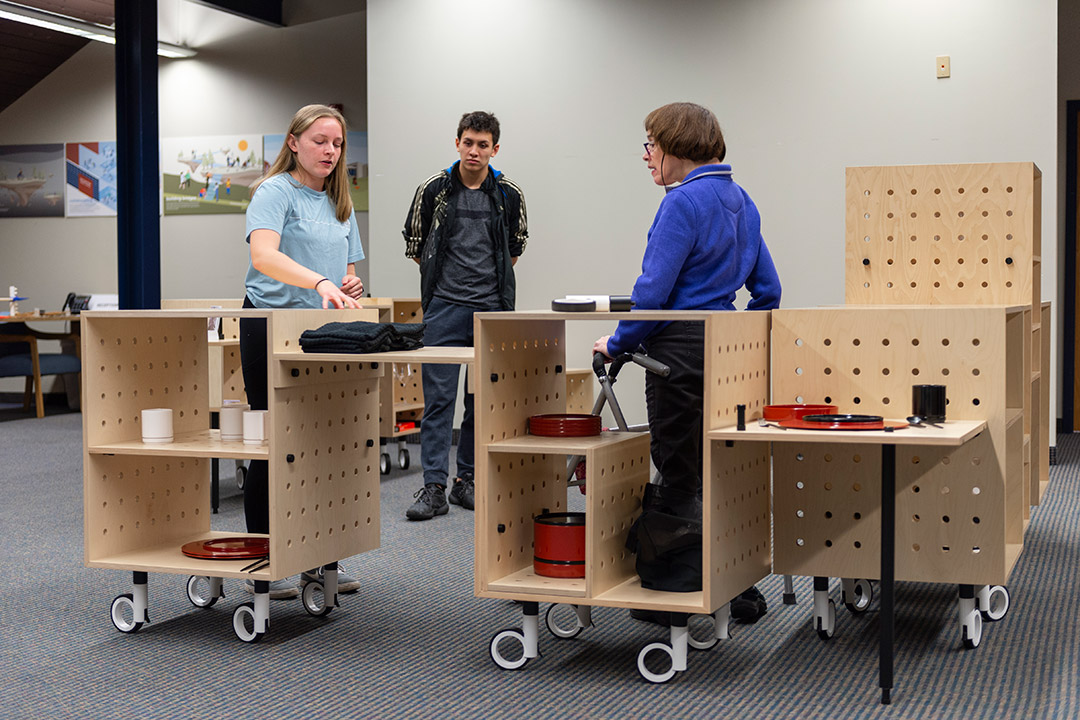 students demonstrating accessible, modular kitchen design.