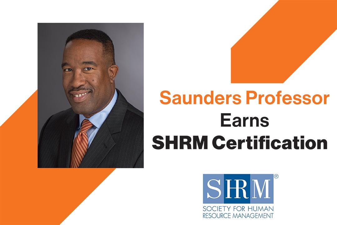 Saunders Professor Torrence Sparkman Earns SHRM Certification