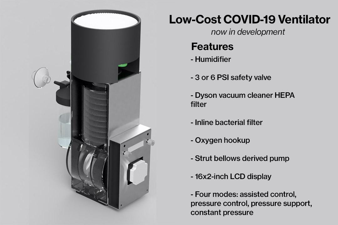 graphic of low-cost ventilator.